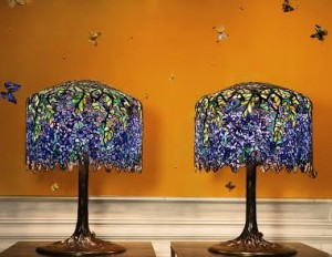 Tiffany - Wisteria Table Lamps.