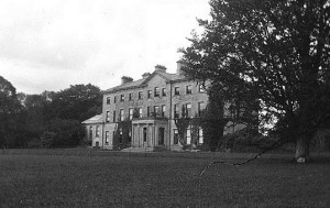 A photo of the now demolished Mote Park House with the entrance portico.