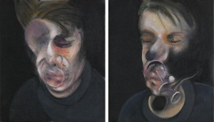 Francis Bacon, Two Studies for Self-Portrait, 1977, oil on canvas