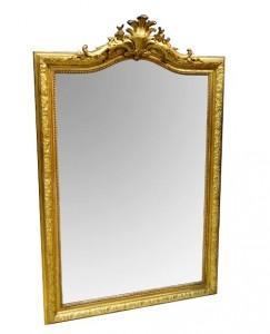 A 19th century gilt wood pier mirror (2,000-4,000).