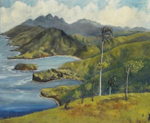 Sir Noël Coward (1899-1973) View from Firefly Hill, Jamaica, painted in 1955 (£10,000-15,000).  Courtesy Christie's Images Ltd., 2015