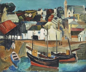 Christopher Wood (1901-1930) Fishing Village, Cornwall (£70,000-100,000).  Courtesy Christie's Images Ltd., 2015.