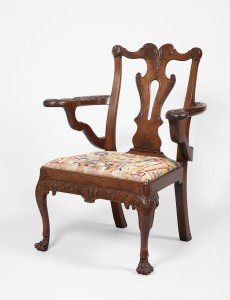 Unknown maker. Armchair, c. 1750. Ireland. Private collection. Photo: Dara McGrath.