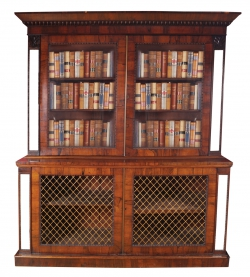 Regency rosewood library bookcase c1820 (4,000-6,000).