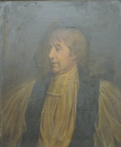 After William Cuming - late 18th early 19th century Irish School - Half length  portrait of  Rev. John Kearney,