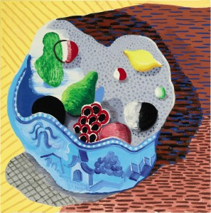 David Hockney Fruit in a Chinese Bowl 1988 ($800,000-1.2 million)