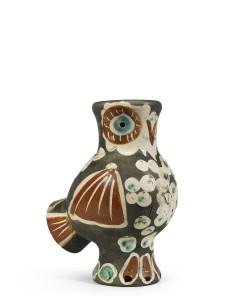 Chouette vase -1968 (250/500) (£7,000-9,000).