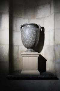 A monumental granite vase with graceful leaf-shaped handle terminals, from Roman Egypt, circa 1st Century B.C., said to have been found in the Baths of Augustus in Rome and acquired by Frederick Howard in 1801 at the sale of the Bessborough Collection (£400,000 - 600,000)