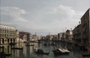 BERNARDO BELLOTTO (Venice 1722–1780 Warsaw) Venice, a view of the Grand Canal looking south from the Palazzo Foscari and Palazzo Morolin towards the Church of Santa Maria Della Carita, with numerous gondolas and barges (£2.5-3.5 MILLION).
