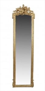 LATE 19TH CENTURY GILTWOOD AND GESSO PIER MIRROR (2,000-3,000).