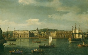 A View of Greenwich from the River. Lent from a private collection 1997