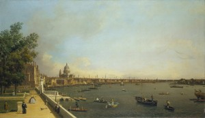 Canaletto, London: The Thames from Somerset House Terrace towards the City c.1750-51 Royal Collection Trust/ © Her Majesty Queen Elizabeth II 2015