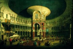 Canaletto, The Interior of the Rotunda, Ranelagh © Compton Verney