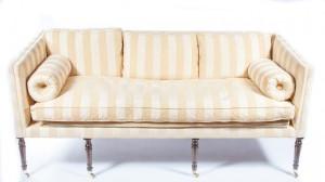 One of a pair of Irish George IV sofas