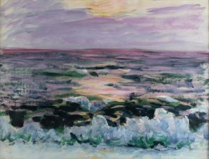 Roderic O'Conor - Waves Breaking on the shore at sunset (30,000-40,000).