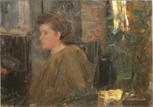 Walter Frederick Osborne - A Pensive Moment (1894) (12,000-16,000).