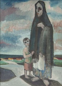 Gerard Dillon (1916 - 1971) Aran Woman and Child (6,000-8,000).