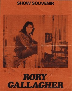 Rory Gallagher - tour progamme, c1972 (signed) (350-400)