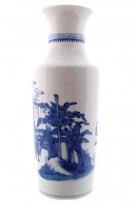 Qing period blue and white vase (1,500-2,500).