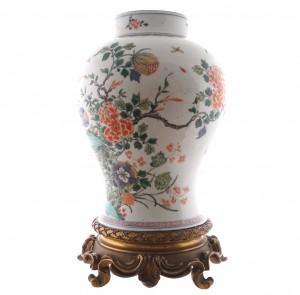 Qing period famille verte vase (3,000-5,000).