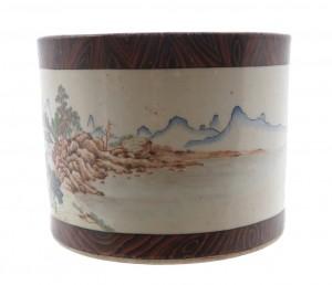 Chinese Republican Period polychrome brush pot (2,500-3,500).