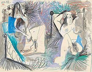 Pablo Picasso - Deux Nus Couches - at Thomas Gibson Fine Art.