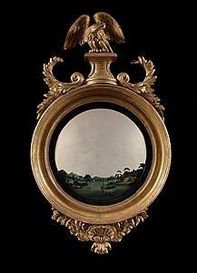 A pair of Regency convex mirrors by Thomas Fentham (1771-1801) at Carlton Hobbs.