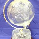 A 21 inch high Waterford Crystal globe.