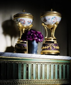 The Duc D'Aumont and Louis XVI's Brûle Parfums: A pair of gilt-bronze-mounted Japanese Kakiemon porcelain and Egyptian porphyry Brûle Parfums – the porcelain 18th century, the gilt bronze mounts Louis XVI, circa 1770-1775. Copyright Sotheby's