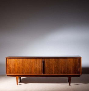 A c1965 Danish rosewood sideboard by Bernard Pedersen and Sons, Copenhagen (2,000-3,000).