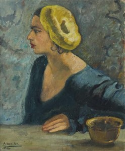 Amrita Sher-Gil - Self portrait at the age of 18 (1931).
