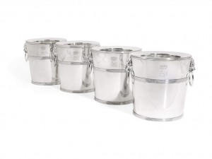 A set of four George III Irish silver wine coolers, Thomas Johnston, Dublin, 1795 sold for £50,000.