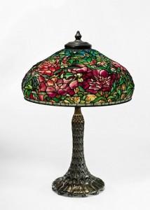 Tiffany Studios - Elaborate Peony Lamp c1910 ($600,000-900,000).