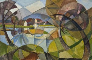 Mary Swanzy HRHA (1882-1978)Cubist Landscape (8,000-12,000).