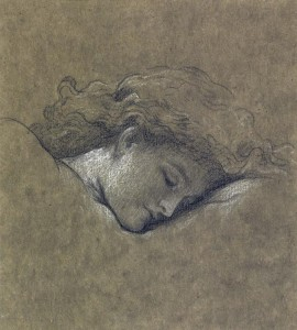 FREDERIC, LORD LEIGHTON, P.R.A., R.W.S 1830-1896 STUDY FOR FLAMING JUNE Coiurtesy Sotheby's
