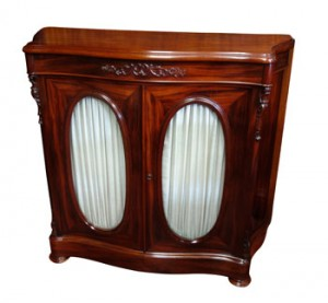 A c1890 two door side cabinet (1,000-1,500).