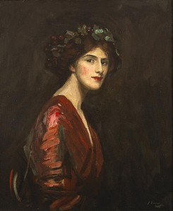 Sir John Lavery RA RSA RHA (1856-1941) A BACCHANTE, 1910 sold for 135,000 at hammer.