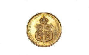 A gold Davis Cup medal, 1903 won by Harald Segerson Mahony, the last Irishman to win at Wimbledon (1896). (5,000-7,000).