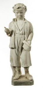 A 19th century carved marble figure (5,000-6,000).