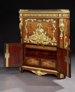19th Century Secretaire a Abattant by Maison Rogie of Paris, after the original in the Wallace Collection, made in 1777 by Pierre-Antoine Foullet at Butchoff Antiques.
