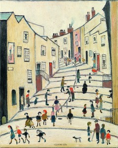 Laurence Stephen Lowry, Crowther Street Stockport, 1964, Oil on Canvas. Courtesy of Richard Green.