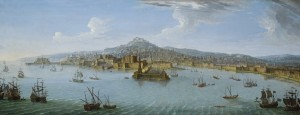 Antonio Joli, A View of Naples from the Bay, circa 1740 at Robilant + Voena