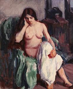 Roderic O'Conor (1860-1940) NUDE IN THE STUDIO (30,000-40,000)
