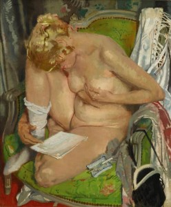Sir William Orpen - Nude Girl Reading