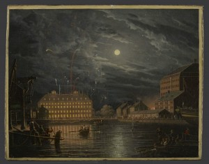Robert Salmon, Maverick House, Boston, Illuminated on 13th November 1837 in Honour of the Whig Victories in New York at John Mitchell