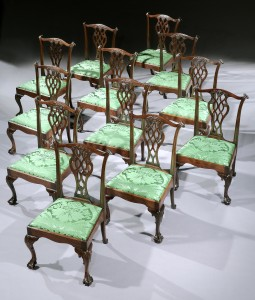 A rare set of 12 Irish chairs