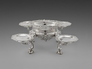 The Earl of Drogheda's silver eperge by Robert Calderwood at Koopman Rare Art (£85,000).