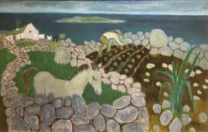 Pony in a Connemara Garden by Gerard Dillon  (30,000-40,000).