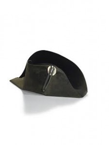 IMPERIAL BLACK FELT BICORNE CAMPAIGN HAT CIRCA 1806, ATTRIBUTED TO POUPART & CO. 'THE EMPEROR NAPOLEON'S HAT WORN DURING THE CAMPAIGN OF 1807' (£300,000-500,000).