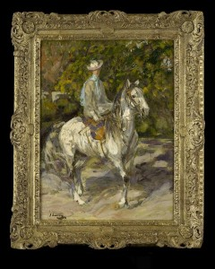 Lady Lavery on Horseback - a recently discovered work by Sir John Lavery at Philip Mould priced £275,000.